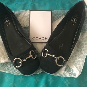 Coach signature pattern loafers